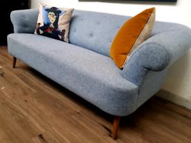 Sofa dot com Zeppelin 2 seater sofa in blue RRP £960