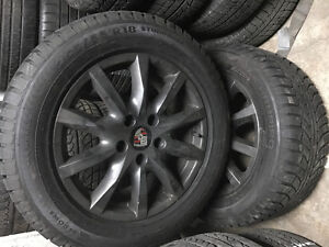 Set of 4  Porsche Cayenne 18inch Wheels and Winter tires.