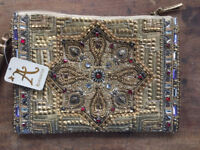 Gold Beaded Clutch Bag -Accessorize