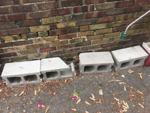 4 Free Cinder Blocks - Come Pick Up
