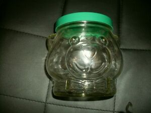 1989 KRAFT BEAR PEANUT BUTTER COLLECTIBLE GLASS  JAR Edmonton Edmonton Area image 1