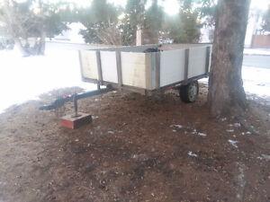 Sled 10x7 tilt trailer