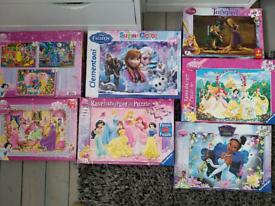 Disney Princess puzzle bundle (7 boxes with 9puzzles)