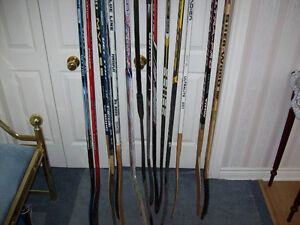 HOCKEY STICKS ( KIDS AND ADULTS AND GOALIES )