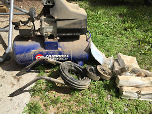 Brand new Campbell Hausfeld compressor and nailer