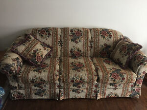 Sofa & Wingback Chair For Sale
