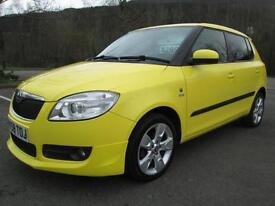 08/58 SKODA FABIA SPORT 1.2 12V 5DR HATCH IN YELLOW WITH 86,000 MILES