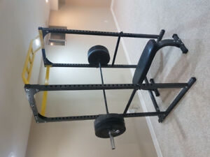 Northern Lights Power Rack with accessories