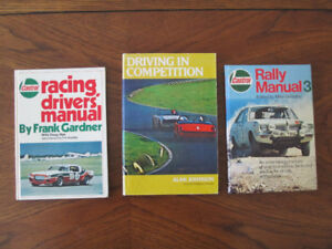RACING DRIVING SKILLS BOOKS---HIGHLY COLLECTIBLE