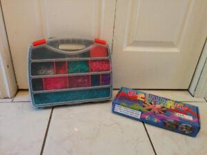 Rainbow Loom kit and extra elastics, $10