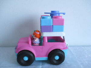 Beau Jeep  Rose  Little  People de Fisher Price+Block Empilable