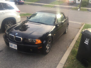 Amazing BMW 3 series convertible Blk with Tan Low KM 155K only