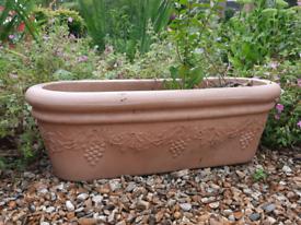 2 x large plastic trough planters