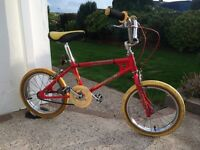 Retro/old school...Raleigh mini burner BMX