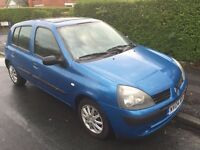 Renault Clio 1:2 Expression. 2004 model.5 door. Only 68 K since new.