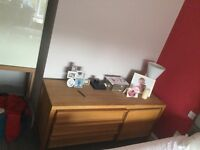 Habitat solid Oak dresser x 2 with 3 draws and a cupboard with 2 shelves