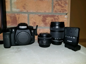 Canon 7D mark ii with 2 lenses, battery and charger