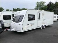 2012 Lunar Delta TI 4 Berth caravan FIXED ISLAND BED, FULL AWNING Bargain!