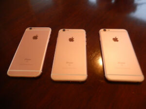 For SaleThree I-phone 6S 16 GB Rose Gold Phones.