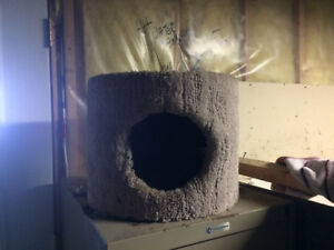 Cat play house and scratching post
