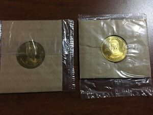 2002 OLYMPIC COCA COLA COINS - Owen Nolan & Scott Niedermayer