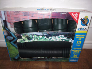 Mole-Pipe Downspout Extension Kit - 2 Pack, Green - boxed $19.00