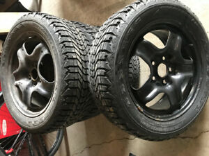 4 Winterforce tires & rims