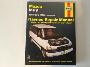 1989-1998 Mazda MPV Service Repair Manual inc 4 Wheel Drive