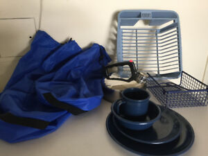 Camping Dishes and Waterproof Bags.