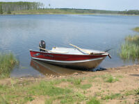 Lund WC14 wide with 2009 Yamaha F20 four stroke