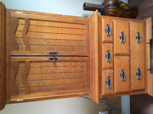 Solid wood dressers and headboard