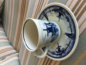 Old Delft Cuo and Saucer - Holland