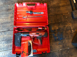 Hilti DX460 with adapter to fasten styrofoam