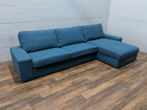 (Free Delivery) -  IKEA KIVIK sectional sofa - Like new!