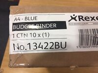 10x blue a4 binders