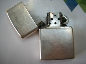 pure silver zippo lighter made in U S A GREAT COLLECTiBLE FOR TH