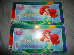 LITTLE MERMAID LICENSE PLATE COVERS