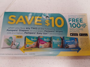 Pampers diapers wipes coupons baby