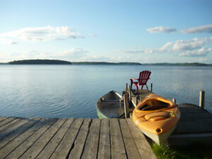 Rice Lake front 3 bdrm cottage spectacular view vacation rental