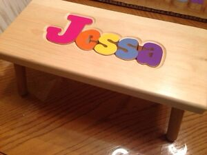 Personalized puzzle step stool West Island Greater Montréal image 3