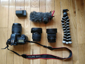 Canon 80D with 18-135mm Kit Lense, Other Lenses Included!