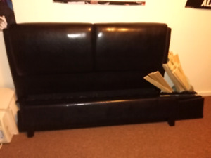 Leather Queen sized bed frame
