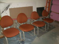 4 Heavy Duty Arm Chairs GET ALL 4 TODAY FOR $40