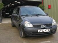Renault Clio 1.5dCi 80 2002MY Expression +. MOT SEPT 17. SERVICE HISTORY