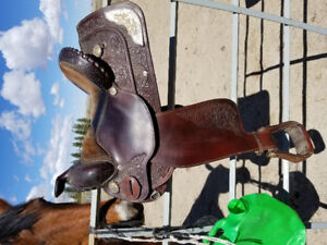 Circle Y Draft horse saddle for sale