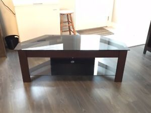 TV Stand with Glass Top