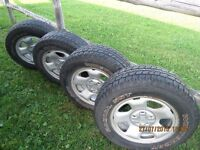 4 tires and rims 245 65 17