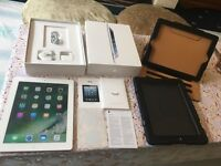 "Apple iPad 4th gen 9.7"" 16GB Retina wifi only boxed pristine with cases p+original access NO OFR"