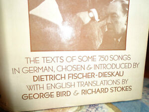 BOOK OF LIEDER 750 GERMAN SONGS and ENGLISH TEXT Dietrich Fisch West Island Greater Montréal image 2