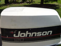 1990 120 hp Johnson motor for parts.